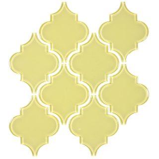 'Chartreuse' Arabesque Water Jet Tiles