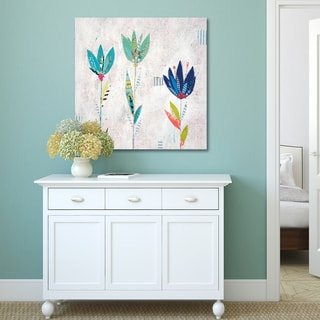 Liz & Kate Pope 'Garden Collage IV' Canvas Stretched and Wrapped Wall Art