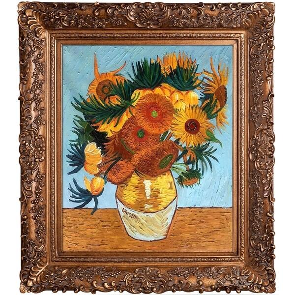 La Pastiche Original 'Sunflower Collage' Hand Painted Oil Reproduction 20006210