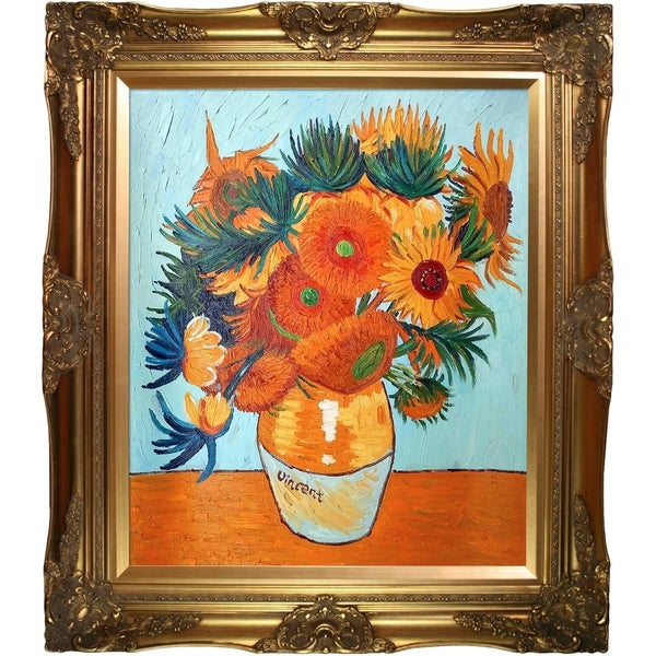 La Pastiche Original 'Sunflower Collage' Hand Painted Oil Reproduction 20006229