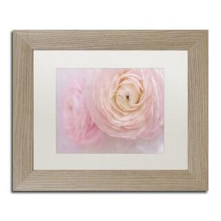 Cora Niele 'Soft Pink Flower Bouquet' Matted Framed Art