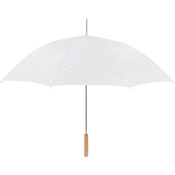 Anderson Umbrella White 48-inch Auto-open Wedding Umbrella