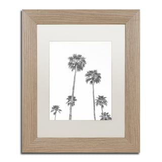 Ariane Moshayedi 'Palms 6 BW' Matted Framed Art