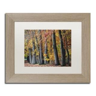 Cora Niele 'Autumn Beeches I' Matted Framed Art