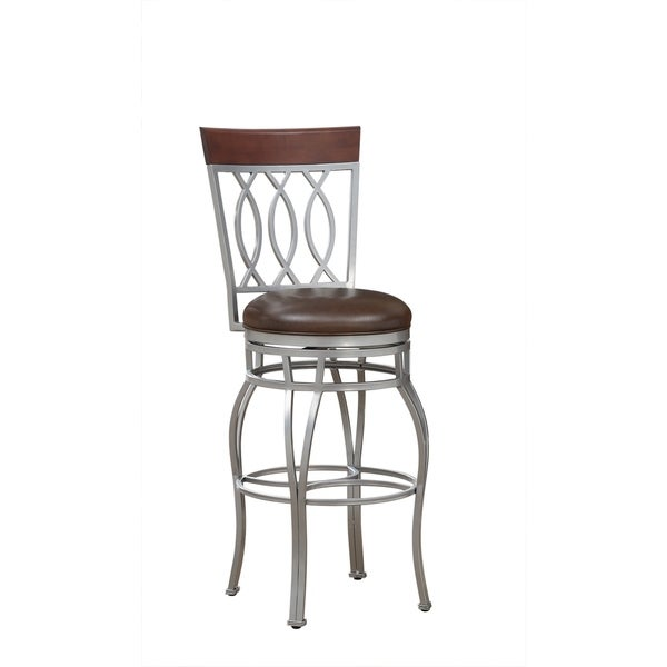 Derby Brown Bonded Leather Counter Height Stool