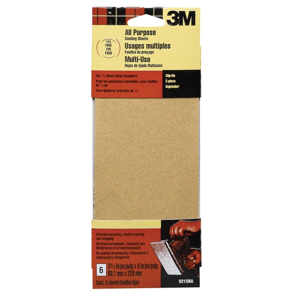 3M 9215ES Fine Finishing Sanding Sheets 6-count