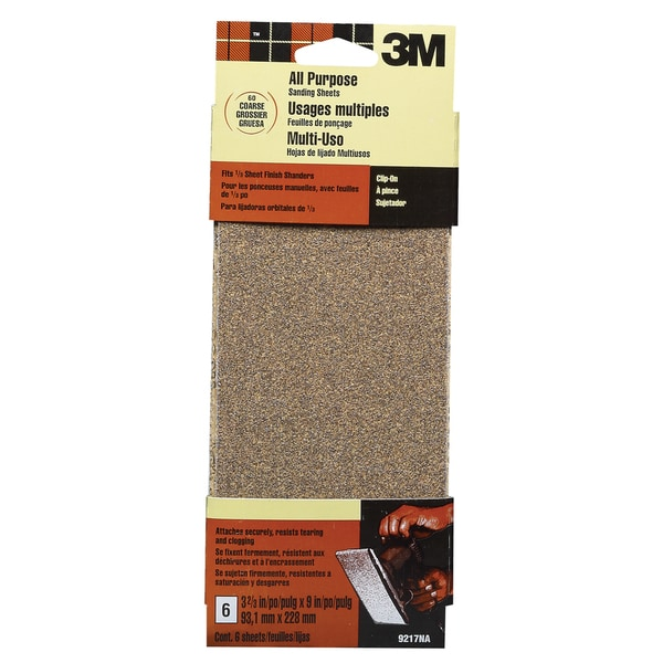 3M 9217ES Coarse Finishing Sanding Sheets 6-count