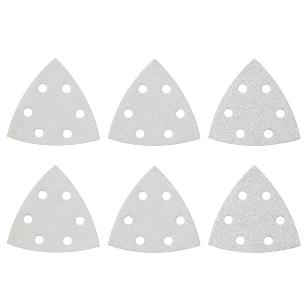 Bosch SDTW000 White Assorted Detail Triangle Hook & Loop Sanding Sheets