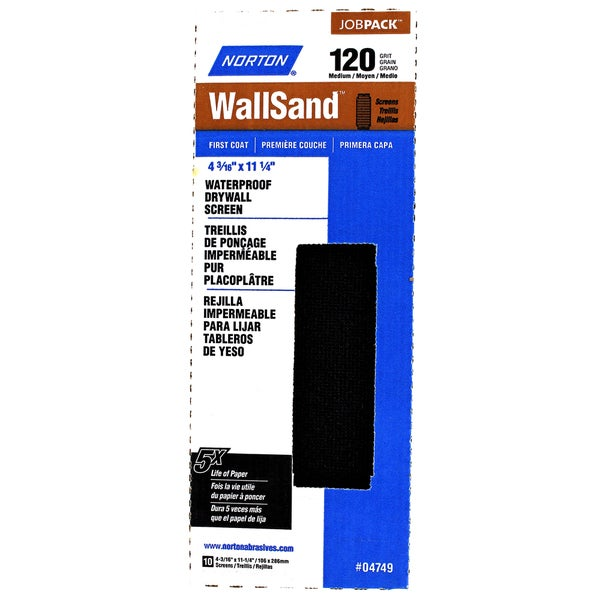 Norton 04749 120 Grit Wallsand Drywall Sanding Sheets 10-count