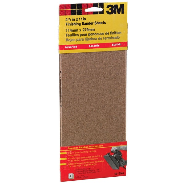 "3M 9012NA 4-1/2"" X 11"" Assorted Finishing Sander Sheets Clip-On"