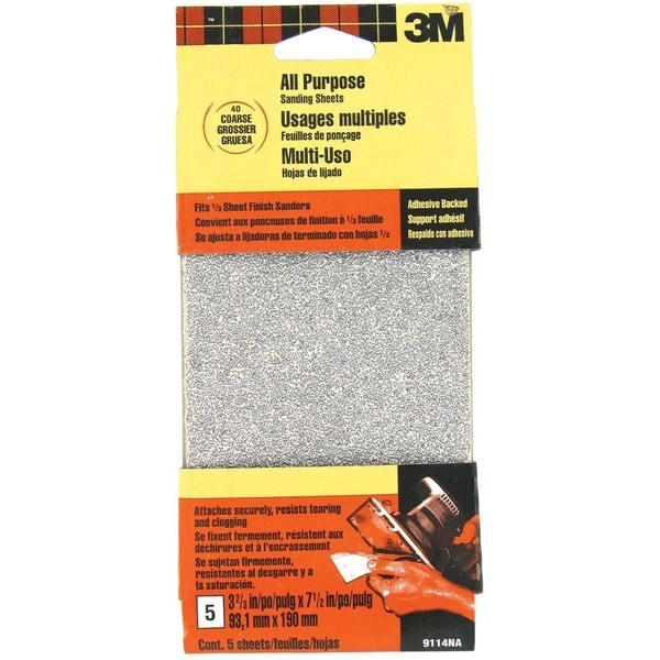 3M 9114DC-NA Coarse Finishing Sander Sheets Adhesive Back