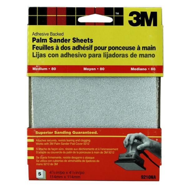 3M 9211DC-NA Coarse Adhesive Backed Palm Sander Sheets