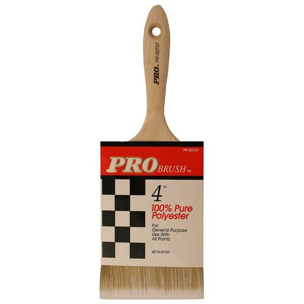 "Gam PR00757 4"" Pro Brush Polyester Paint Brush"