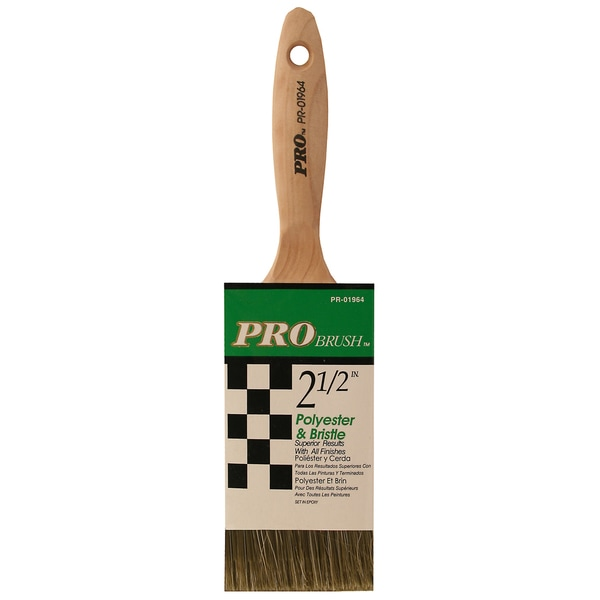 "Gam PR01964 2-1/2"" Pro Brush Polyester & Bristle Paint Brush"
