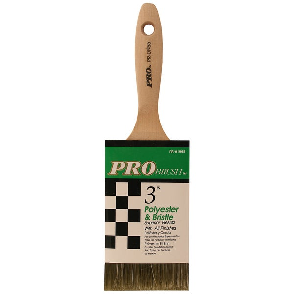 "Gam PR01965 3"" Pro Brush Polyester & Bristle Paint Brush"