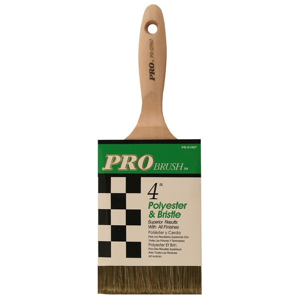 "Gam PR01967 4"" Pro Brush Polyester & Bristle Paint Brush"