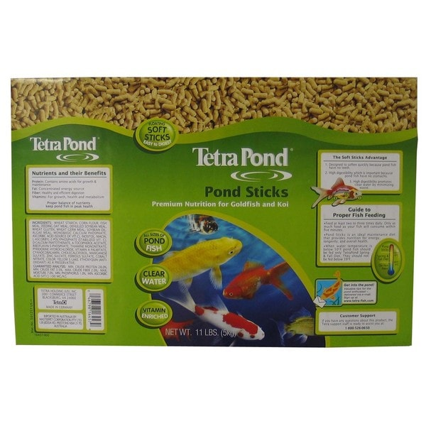 Tetra Pond 16457 11 Lb Pond Sticks Fish Food 20010204