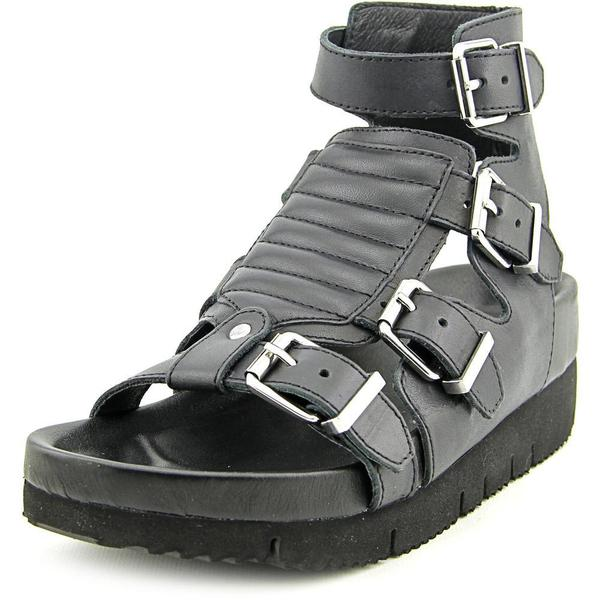 Ash Women's 'Tribal' Black Leather Sandals