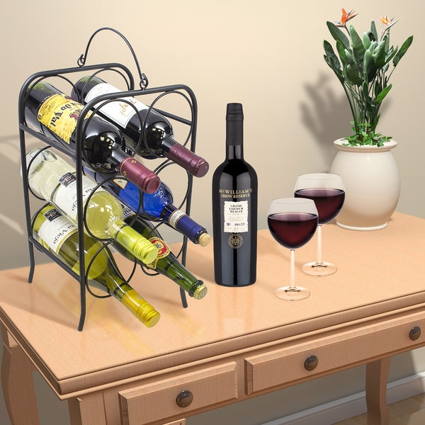 Sorbus Wine Arch Wine Rack- 6 Bottle
