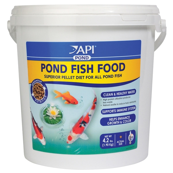 API Aquarium Pharmaceuticals Inc 198E 4.2 Lb Pond Fish Food