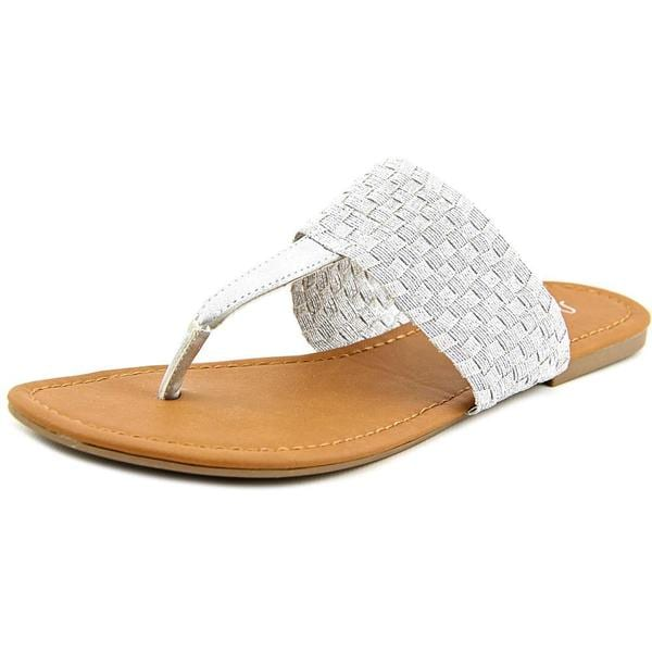 Sugar Women's 'Jampa' Silver Synthetic Sandals