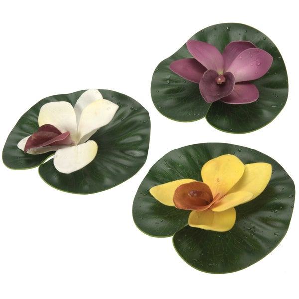 Pond Boss DFLP3 3-count Assorted Colors Lily Pad Variety Pack