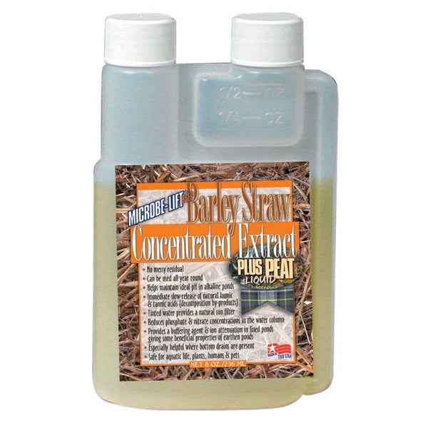 Microbe Lift BSEP08 8-ounce Barley Straw Concentrate Plus Peat Extract Concentrate