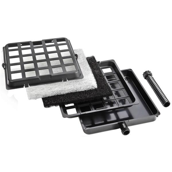 Pondmaster 02205 9-inch X 9-inch Black Mechanical Garden Pond Filter 20011678