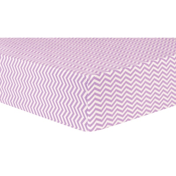 Trend Lab Lilac Chevron Flannel Deluxe Fitted Crib Sheet