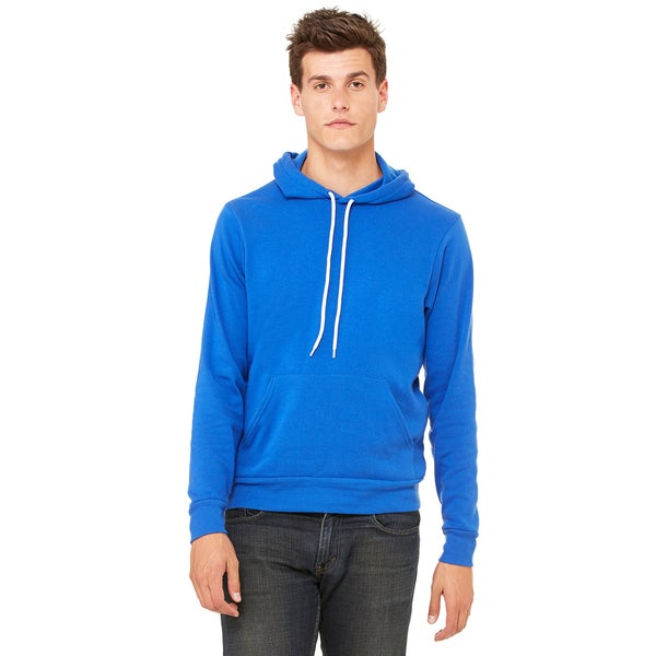 Unisex True Royal Blue Poly-cotton Fleece Pullover Hoodie