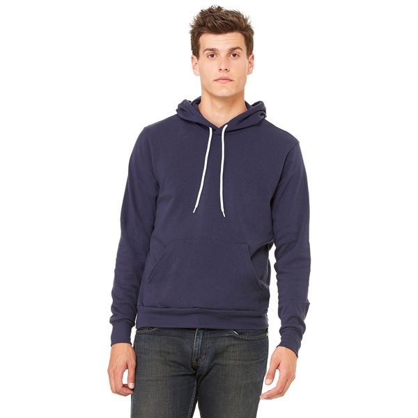 Navy Poly-cotton Unisex Fleece Pullover Hoodie