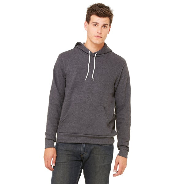 Unisex Dark Grey Heather Poly-cotton Fleece Pullover Hoodie 20012536
