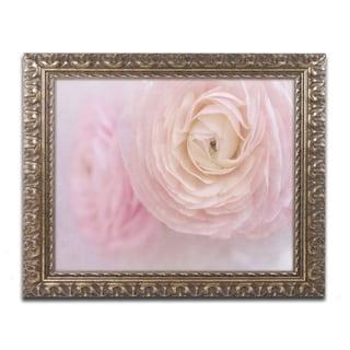 Cora Niele 'Soft Pink Flower Bouquet' Ornate Framed Art