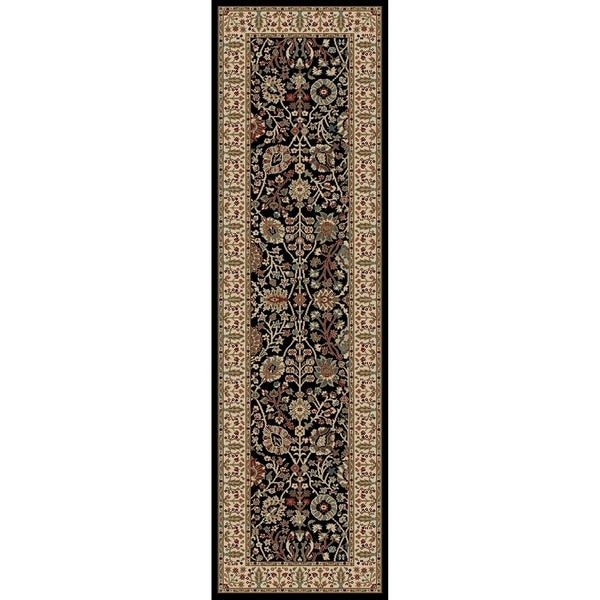 Valencia Collection Gems 7-foot Long Polypropylene Traditional Runner Rug