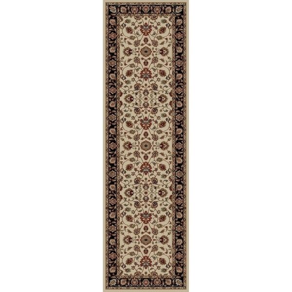 Valencia Collection Abies 7-foot Long Polypropylene Floral Runner Rug