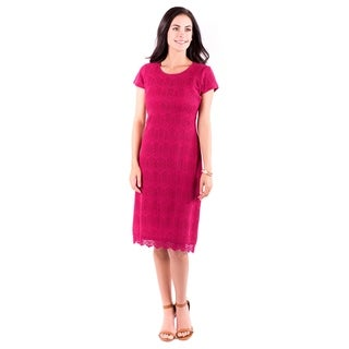 DownEast Basics Women's Pink Peaceful Dress