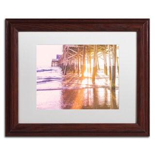 Ariane Moshayedi 'Newport Pier Sunset 2' Matted Framed Art