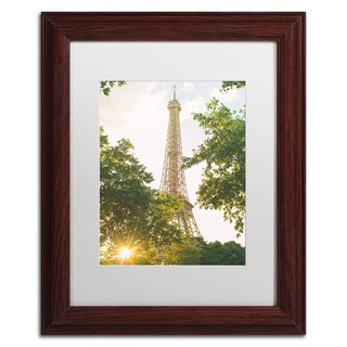 Ariane Moshayedi 'Eiffel Tower Sunset' Matted Framed Art