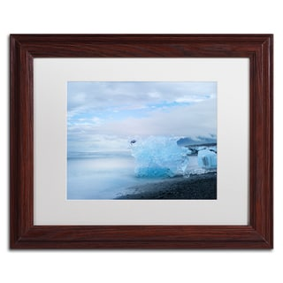 Philippe Sainte-Laudy 'Blue Exception' Matted Framed Art