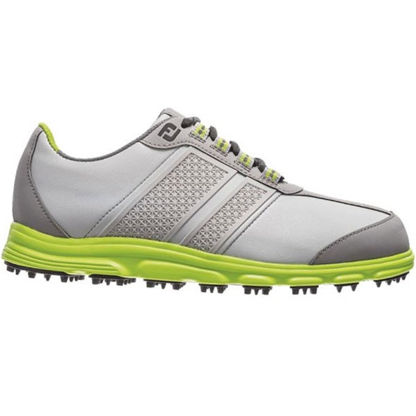 FootJoy Junior Superlite CT Spikeless Golf Shoes 45052 2014 Light Grey/Lime