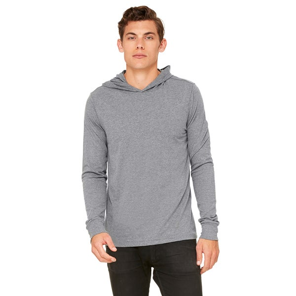 Unisex Deep Heather Jersey Long-sleeve Hoodie