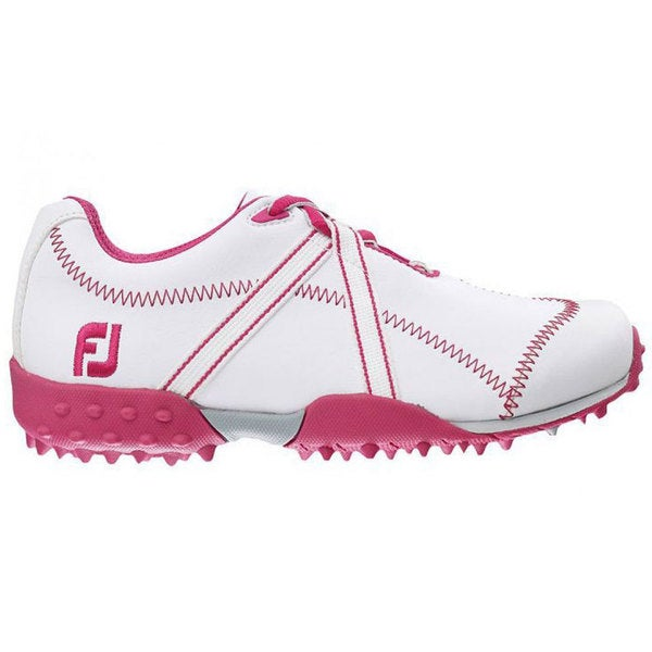 FootJoy M Project Junior Golf Shoes 2015 Girls White/Fuschia