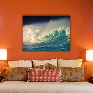 Alan Lug 'Waimea' Stretched Canvas Wall Art