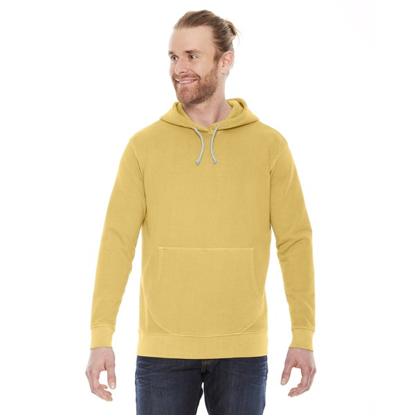 Unisex Mustard Yellow Cotton French Terry Hoodie