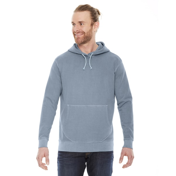 Unisex Bay Grey Cotton French Terry Hoodie