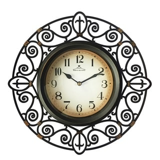Wee's Beyond Plastic Black 12-inch Arts Clock