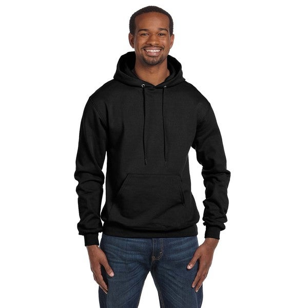 Men's Big and Tall Pullover Black Hood Jacket