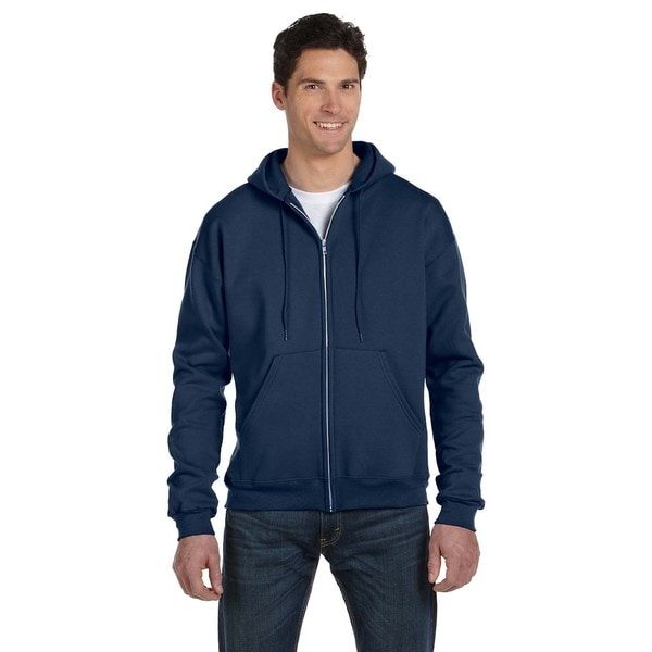 Men's Big and Tall Full-Zip Navy Heather Hood Jacket