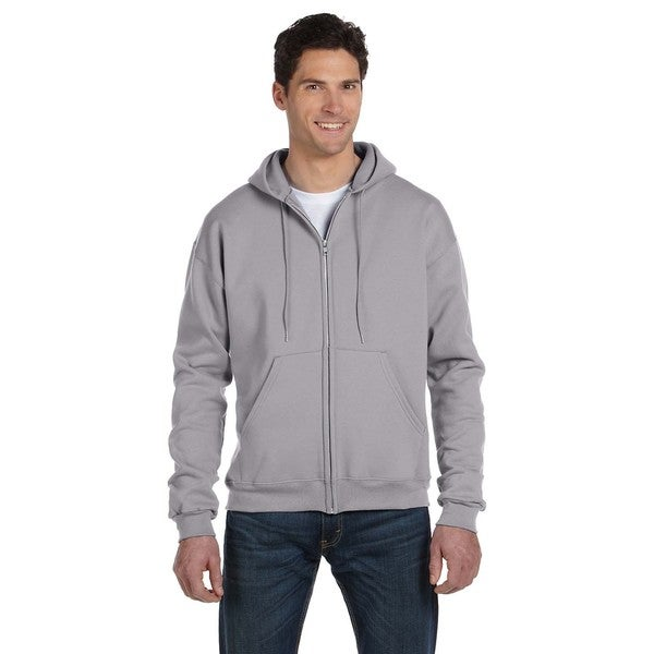 Men's Big and Tall Full-Zip Light Steel Hood Jacket