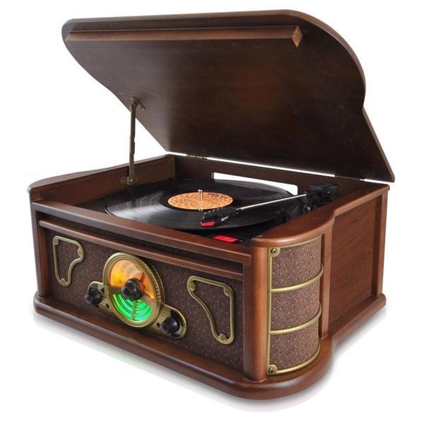 Pyle Vintage Style Bluetooth Turntable Speaker System